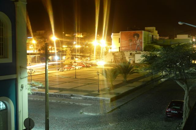 Blick vom Balkon vom Hostel in Mindelo I