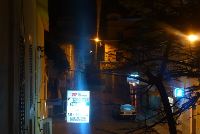 Blick vom Balkon vom Hostel in Mindelo II