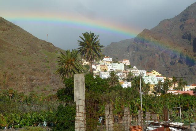 Regenbogen über Valle Gran Rey