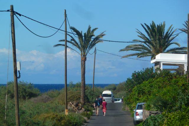 Weg zum Strand in Valle Gran Rey